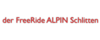 der FreeRide Alpin Schlitten